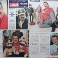 Collectionnisme de Magazine Hola: RECORTE REVISTA HOLA Nº 2331 1989 VICTOR FRENCH 2 PGS. Lote 225126345