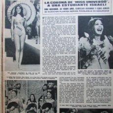 Collezionismo di Rivista Hola: RECORTE REVISTA HOLA Nº 1665 1976 MISS UNIVERSO. RINA MESSINGER. Lote 225822280