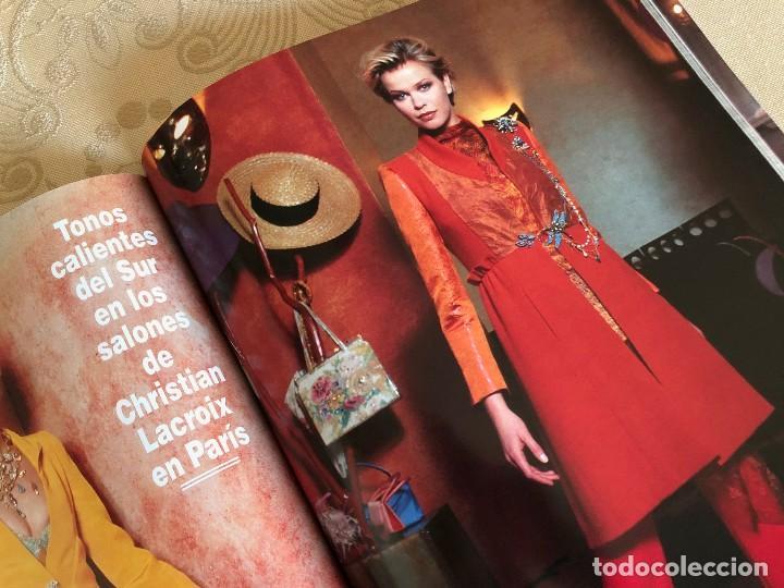 Coleccionismo de Revista Hola: Hola. Número Especial Alta Costura. Moda. Diseño. Primavera Verano 1997. Claudia Schiffer. España - Foto 8 - 225833355