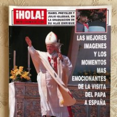 Coleccionismo de Revista Hola: REVISTA HOLA. NÚMERO 2.550. VISITA DEL PAPA JUAN PABLO II A ESPAÑA. SEVILLA. MADRID. HUELVA. 1993.. Lote 226033030
