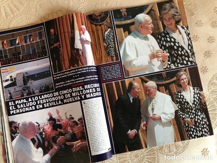 Coleccionismo de Revista Hola: Revista Hola. Número 2.550. Visita del Papa Juan Pablo II a España. Sevilla. Madrid. Huelva. 1993. - Foto 3 - 226033030