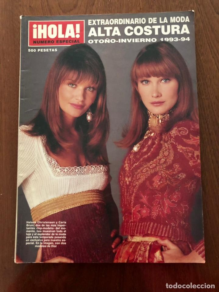 REVISTA HOLA EXTRAORDINARIO ALTA COSTURA OTOÑO-INVIERNO 1993-1994 (Coleccionismo - Revistas y Periódicos Modernos (a partir de 1.940) - Revista Hola)