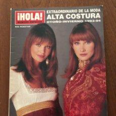Collectionnisme de Magazine Hola: REVISTA HOLA EXTRAORDINARIO ALTA COSTURA OTOÑO-INVIERNO 1993-1994. Lote 226102940