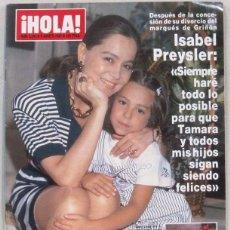 Collectionnisme de Magazine Hola: HOLA - Nº 2242 - 6 AGOSTO 1987 - REVISTA. Lote 226232375