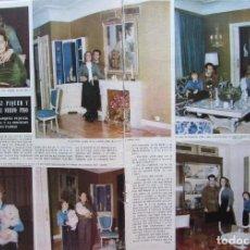 Coleccionismo de Revista Hola: RECORTE REVISTA HOLA Nº 1637 1976 CONCHITA MARQUEZ PIQUER Y CURRO ROMERO 3 PGS. Lote 226367595