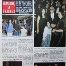 Collectionnisme de Magazine Hola: RECORTE REVISTA HOLA Nº 1657 1976 GERALDINE CHAPLIN, ANA TORRENT, SAURA. Lote 226474685