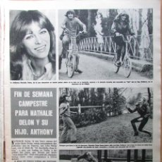 Coleccionismo de Revista Hola: RECORTE REVISTA HOLA Nº 1652 1976 NATHALIE DELON. TOM JONES. Lote 244478515