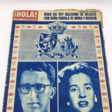 Coleccionismo de Revista Hola: ¡HOLA! - Nº 851 - 17 AL 24 DE DICIEMBRE DE 1960 - BODA REY BALDUINO DE BELGICA. Lote 226954985