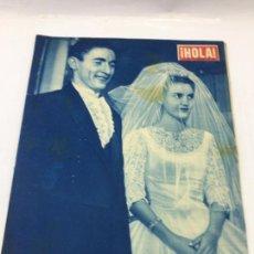 Coleccionismo de Revista Hola: ¡HOLA! - Nº 744 DEL 29 DE NOVIEMBRE DE 1958 - BODA DEL TORERO CESAR GIRON. Lote 227091700