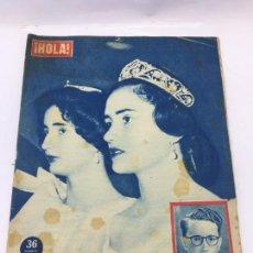 Coleccionismo de Revista Hola: HOLA Nº 715 1958 SORAYA LA SOLITARIA DE TEHERAN ,- BING CROSBY RETIRO - MARIA TERESA DE BORBON. Lote 227092505