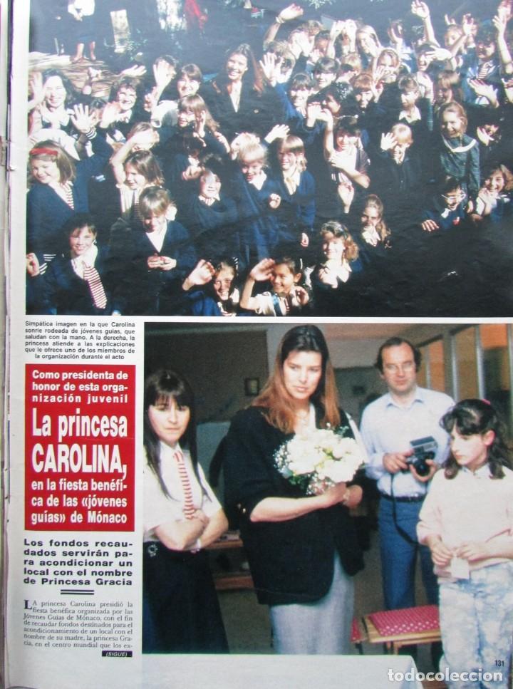 RECORTE REVISTA HOLA Nº 2278 1988 CAROLINA DE MÓNACO. 2 PGS (Coleccionismo - Revistas y Periódicos Modernos (a partir de 1.940) - Revista Hola)