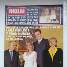 Collezionismo di Rivista Hola: REVISTA ¡HOLA! Nº 2796. 12 MARZO 1998. BODA CIVIL DE LARA DIBILDOS Y FRAN MURCIA. TDKC96. Lote 227880950