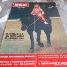 Collectionnisme de Magazine Hola: HOLA - 3-10-1970 . PATTY PRAVO 8F 2P - SYLVIE VARTAN 4F 1P - MISS ESPAÑA 5F 2P. Lote 227974540