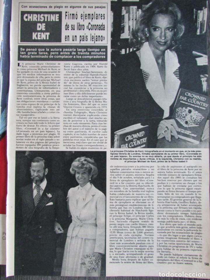 RECORTE REVISTA HOLA Nº 2201 1986 CHRISTINE DE KENT, ESTEFANIA DE MONACO (Coleccionismo - Revistas y Periódicos Modernos (a partir de 1.940) - Revista Hola)