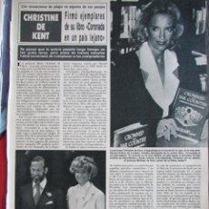 Collezionismo di Rivista Hola: RECORTE REVISTA HOLA Nº 2201 1986 CHRISTINE DE KENT, ESTEFANIA DE MONACO. Lote 227985395