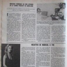 Collectionnisme de Magazine Hola: RECORTE REVISTA LECTURAS Nº 1463 1980 MARISOL, PEPA FLORES. Lote 227986365