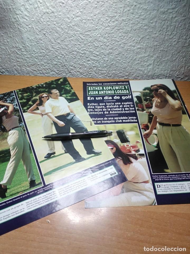 ESTHER KOPLOWITZ Y JUAN ANTONIO LOSADA . HOLA 28/7/94 (Coleccionismo - Revistas y Periódicos Modernos (a partir de 1.940) - Revista Hola)