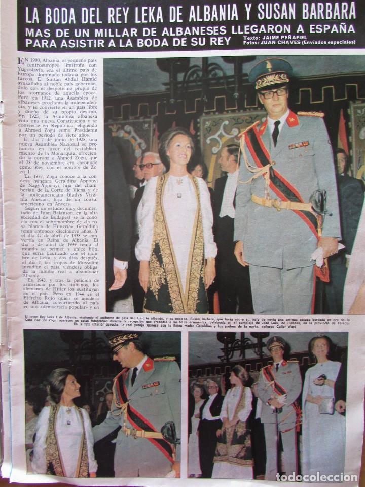 RECORTE REVISTA HOLA N.º 1626 1975 BODA DEL REY LEKA I DE ALBANIA Y SUSAN BARBARA (Coleccionismo - Revistas y Periódicos Modernos (a partir de 1.940) - Revista Hola)