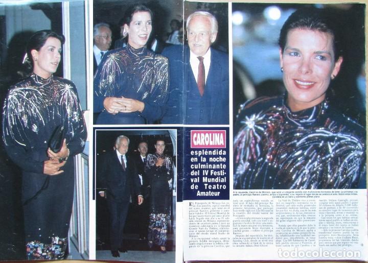 RECORTE REVISTA HOLA N.º 2353 1989 CAROLINA DE MÓNACO 2 PGS. MICHAEL LANDON 3 PGS (Coleccionismo - Revistas y Periódicos Modernos (a partir de 1.940) - Revista Hola)