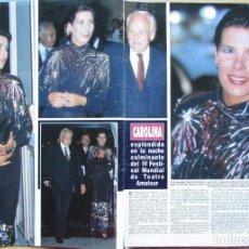 Collezionismo di Rivista Hola: RECORTE REVISTA HOLA N.º 2353 1989 CAROLINA DE MÓNACO 2 PGS. MICHAEL LANDON 3 PGS. Lote 235124080