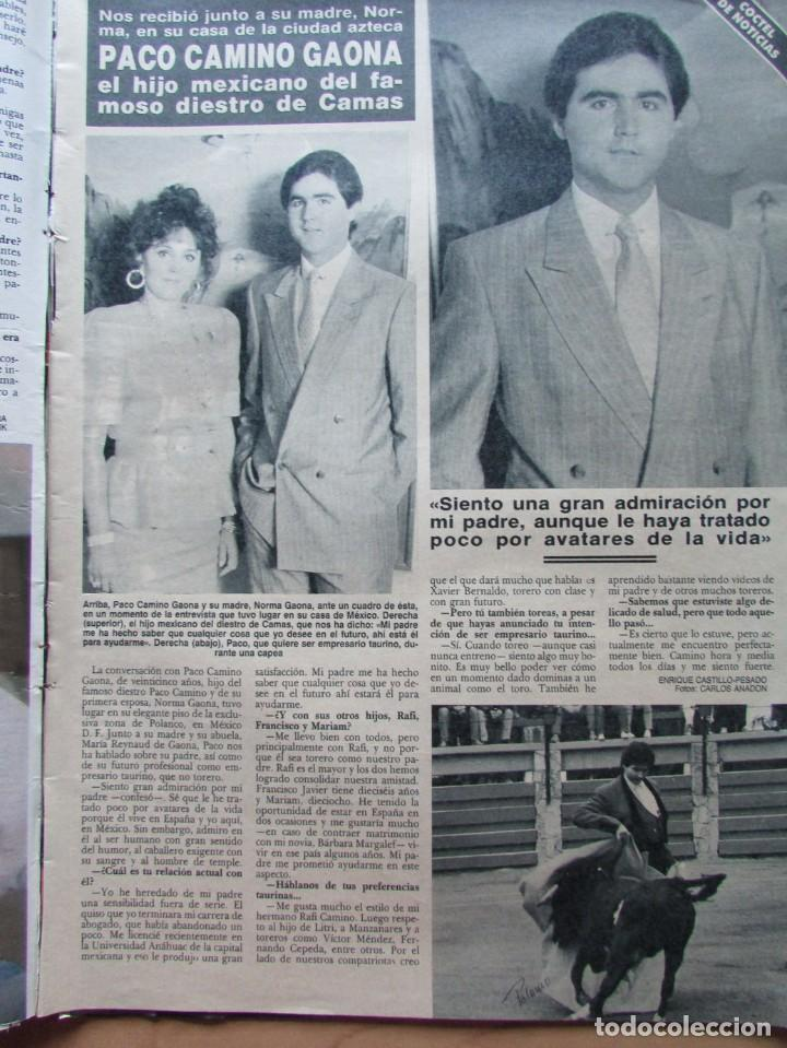 RECORTE REVISTA HOLA N.º 2353 1989 PACO CAMINO GAONA, JULIO IGLESIAS (Coleccionismo - Revistas y Periódicos Modernos (a partir de 1.940) - Revista Hola)