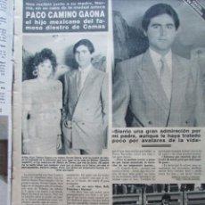 Coleccionismo de Revista Hola: RECORTE REVISTA HOLA N.º 2353 1989 PACO CAMINO GAONA, JULIO IGLESIAS. Lote 235129735