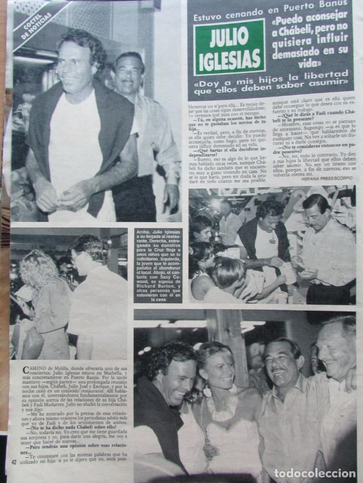 Coleccionismo de Revista Hola: RECORTE REVISTA HOLA N.º 2353 1989 PACO CAMINO GAONA, JULIO IGLESIAS - Foto 2 - 235129735