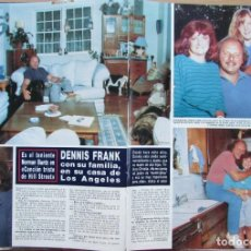 Coleccionismo de Revista Hola: RECORTE REVISTA HOLA N.º 2353 1989 DENNIS FRANK. MIRTA MILLER. Lote 235130230