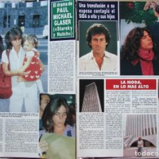 Coleccionismo de Revista Hola: RECORTE REVISTA HOLA N.º 2353 1989 PAUL MICHAEL GLASER. STARSKY Y HUTCH. Lote 235130610
