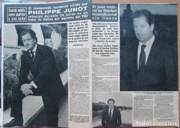 RECORTE REVISTA HOLA N.º 2353 1989 PHILIPPE JUNOT (Coleccionismo - Revistas y Periódicos Modernos (a partir de 1.940) - Revista Hola)