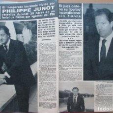 Coleccionismo de Revista Hola: RECORTE REVISTA HOLA N.º 2353 1989 PHILIPPE JUNOT. Lote 235130825