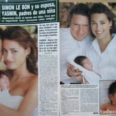 Coleccionismo de Revista Hola: RECORTE REVISTA HOLA N.º 2353 1989 SIMON LE BON. DURAN-DURAN 5 PGS. Lote 235130965