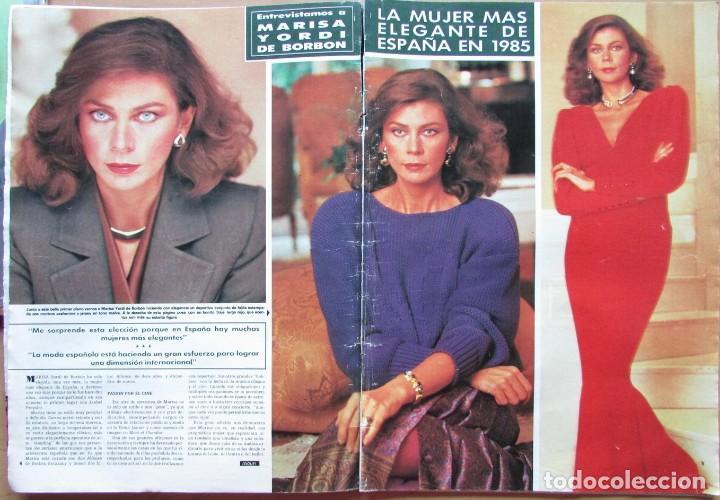 RECORTE REVISTA HOLA N.º 2155 1985 MARISA YORDI DE BORBÓN 5 PGS (Coleccionismo - Revistas y Periódicos Modernos (a partir de 1.940) - Revista Hola)