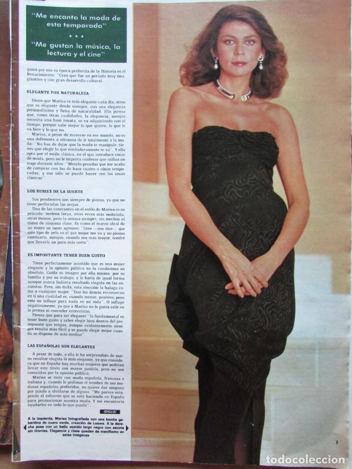 Coleccionismo de Revista Hola: RECORTE REVISTA HOLA N.º 2155 1985 MARISA YORDI DE BORBÓN 5 PGS - Foto 2 - 235137245