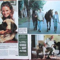 Coleccionismo de Revista Hola: RECORTE REVISTA HOLA N.º 2155 1985 GEORGE C. SCOTT. PATTON. 5 PGS. Lote 235137690