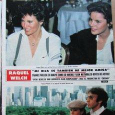 Coleccionismo de Revista Hola: RECORTE REVISTA HOLA N.º 2155 1985 RAQUEL WELCH 3 PGS. Lote 235138380