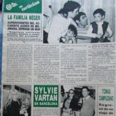Coleccionismo de Revista Hola: RECORTE REVISTA HOLA N.º 2155 1985 SYLVIE VARTAN, TOMÁS CAMPUZANO. Lote 235138610