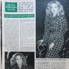 Coleccionismo de Revista Hola: RECORTE REVISTA HOLA N.º 2155 1985 SILVIA TORTOSA. Lote 235138990