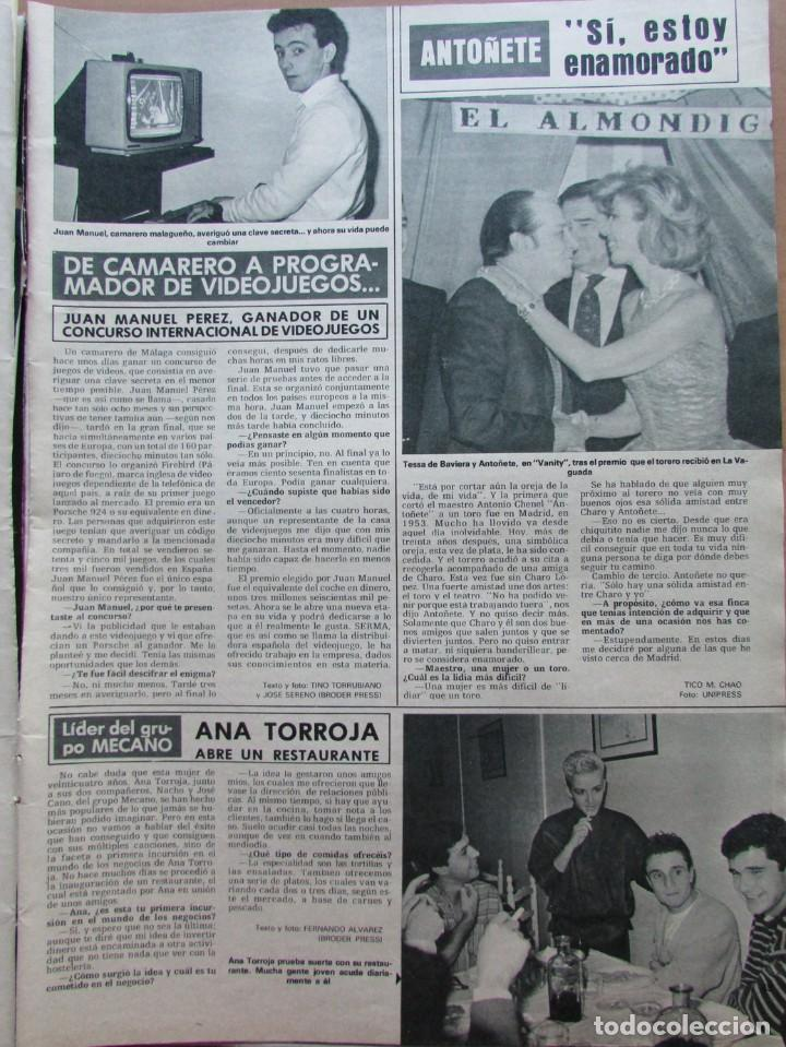 RECORTE REVISTA HOLA N.º 2155 1985 ANA TORROJA, MECANO (Coleccionismo - Revistas y Periódicos Modernos (a partir de 1.940) - Revista Hola)