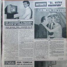 Coleccionismo de Revista Hola: RECORTE REVISTA HOLA N.º 2155 1985 ANA TORROJA, MECANO. Lote 235149010