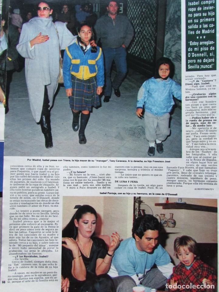 Coleccionismo de Revista Hola: RECORTE REVISTA HOLA N.º 2155 1985 ISABEL PANTOJA 4 PGS - Foto 2 - 235149380