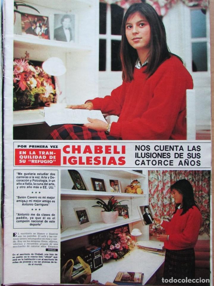RECORTE REVISTA HOLA N.º 2155 1985 CHABELI IGLESIAS 6 PGS (Coleccionismo - Revistas y Periódicos Modernos (a partir de 1.940) - Revista Hola)