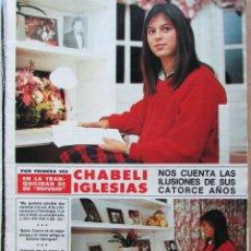 Coleccionismo de Revista Hola: RECORTE REVISTA HOLA N.º 2155 1985 CHABELI IGLESIAS 6 PGS. Lote 235149535