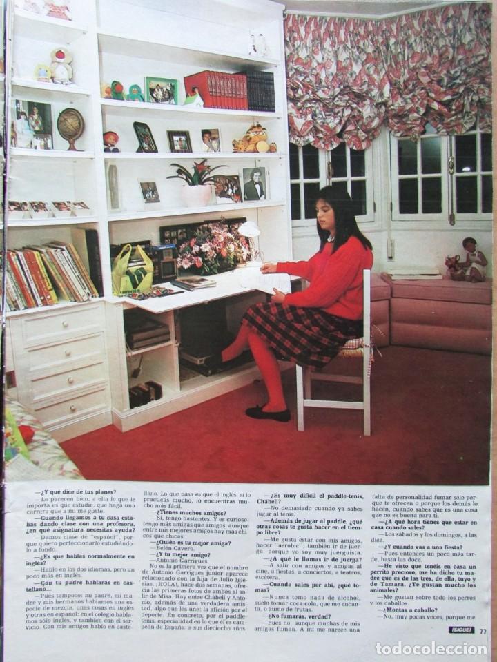Coleccionismo de Revista Hola: RECORTE REVISTA HOLA N.º 2155 1985 CHABELI IGLESIAS 6 PGS - Foto 2 - 235149535