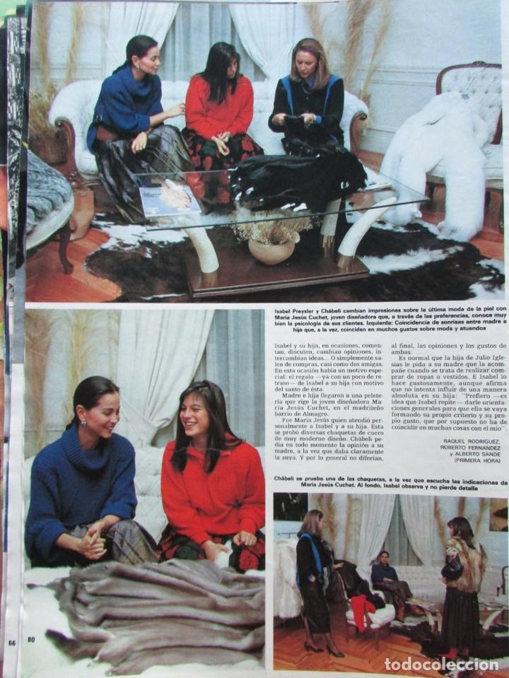 Coleccionismo de Revista Hola: RECORTE REVISTA HOLA N.º 2155 1985 CHABELI IGLESIAS 6 PGS - Foto 3 - 235149535