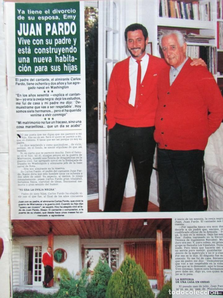 RECORTE REVISTA HOLA N.º 2155 1985 JUAN PARDO 4 PGS (Coleccionismo - Revistas y Periódicos Modernos (a partir de 1.940) - Revista Hola)