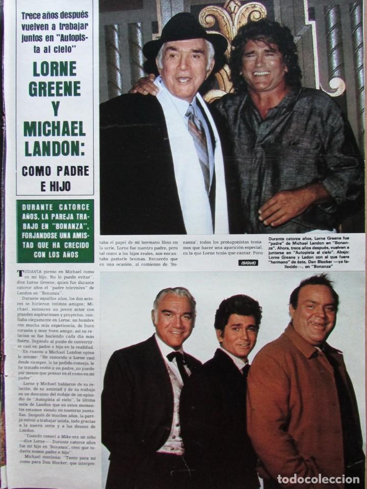 RECORTE REVISTA HOLA N.º 2155 1985 LORNE GREENE, MICHAEL LANDON (Coleccionismo - Revistas y Periódicos Modernos (a partir de 1.940) - Revista Hola)