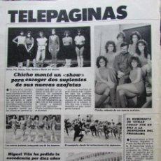 Coleccionismo de Revista Hola: RECORTE REVISTA N.º 1624 1983 UN, DOS, TRES.... Lote 235350065
