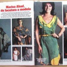 Coleccionismo de Revista Hola: RECORTE REVISTA N.º 1624 1983 MARISA ABAD. Lote 235350155