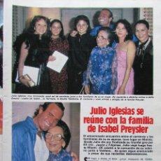 Coleccionismo de Revista Hola: RECORTE REVISTA N.º 1624 1983 JULIO IGLEISAS, VAITIARE. 5 PGS. Lote 235350425